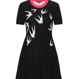 Mcq Alexander Mcqueen Printed Wool Sweater Dress